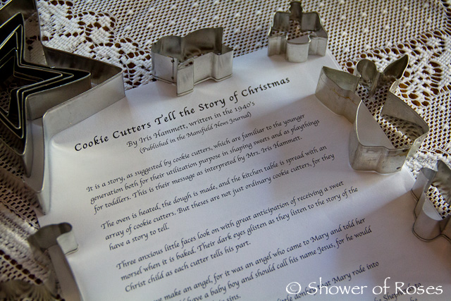 Shower Of Roses Cookie Cutters Tell The Story Of Christmas