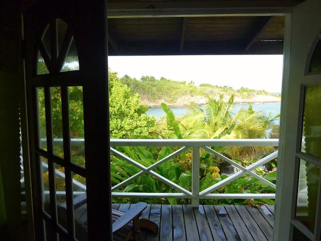 Vista do Cabier Ocean Lodge em Grenada