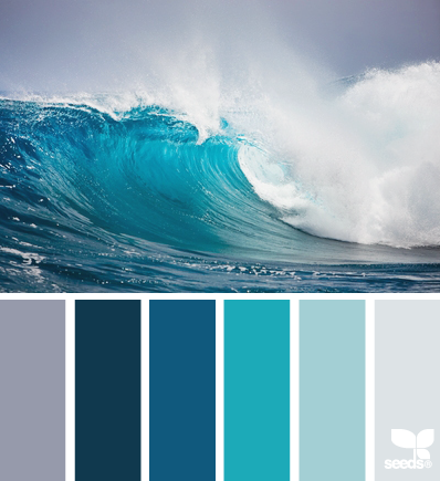 Paint your home with coastal colors for Ocean blue color combinations