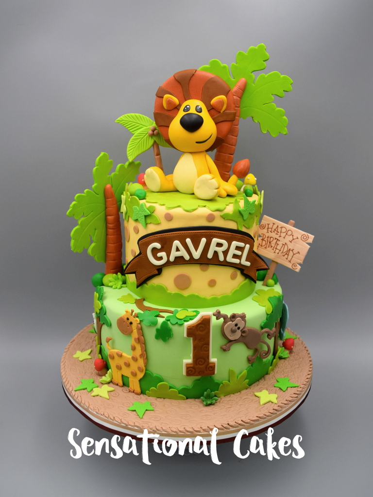 Animal Jungle Lion Theme Boy Birthday 3D Cake Singapore Animal3DCake KiddieJungleCake
