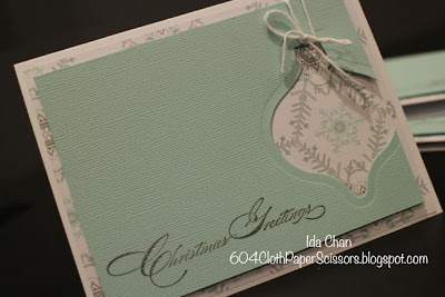 #Holiday #Ornament card by Ida Chan #StampinUp Vancouver