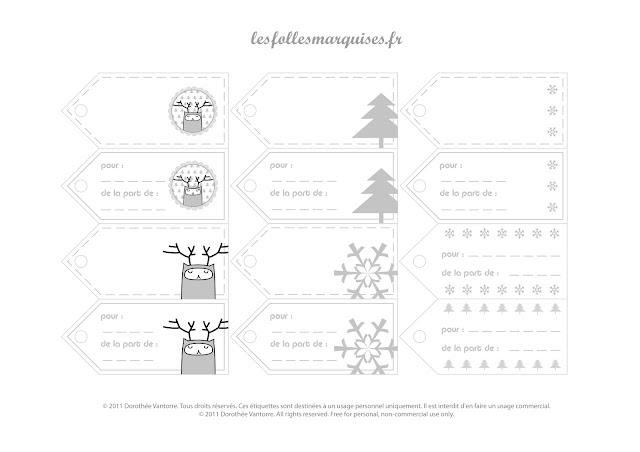 Bevorzugt Les Folles Marquises: Etiquettes pour cadeaux à télécharger - Gift  IF43