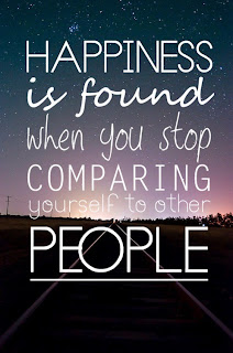 QUOTES BOUQUET: Happiness Is Found When You Stop Comparing Yourself To Other People