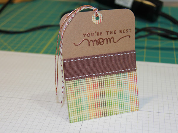 Heat Embossed Mother's Day Tag
