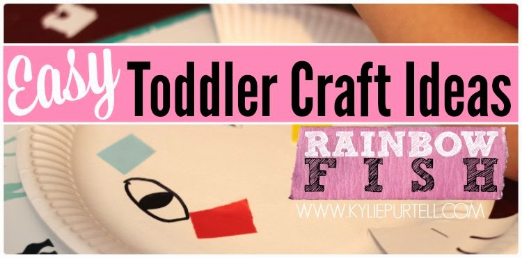 Easy Toddler Craft Ideas Rainbow Fish Craft For The Kids Kylie