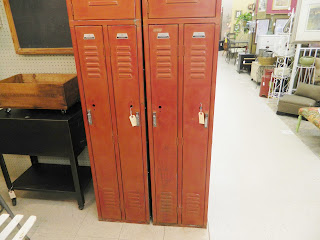 red school lockers