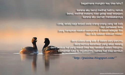 Puisi Nasehat : Jangan Sampai Patah Hati