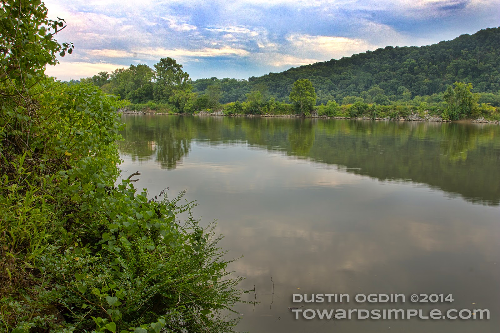 A view of the Cumberland River at Bells Bend Park in Nashville, TN