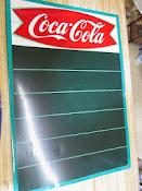 Original Vintage 1960 Fishtail Coca-Cola Menu Board