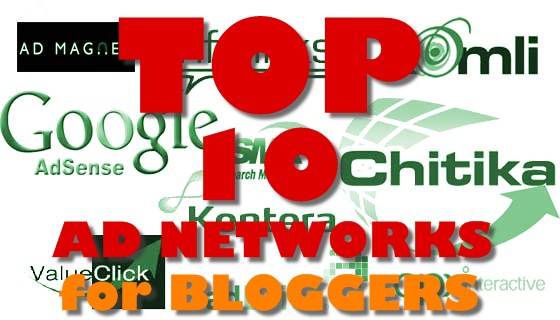 Top 10 Ad networks for Bloggers