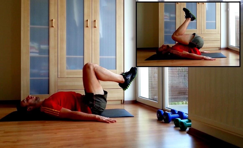 Przyciąganie nóg do klatki piersiowej
