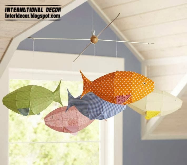 marine kids room style, marine children room ceiling decor