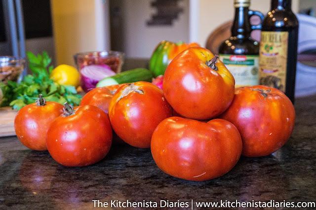 Smoky Heirloom Tomato Gazpacho - The Kitchenista Diaries