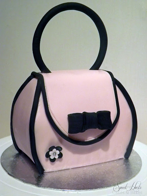 Handbag purse cake step by step tutorial