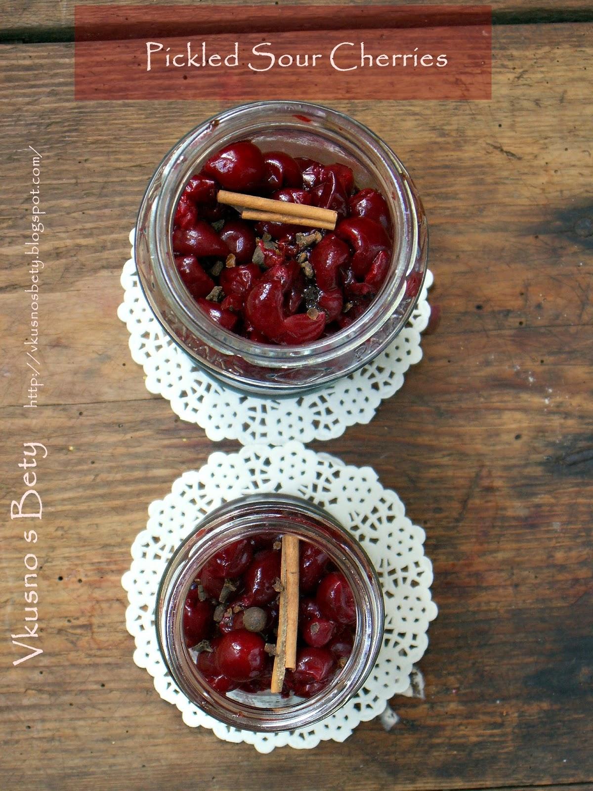 Вкусно с Бети: Туршия от вишни - Pickled Sour Cherries