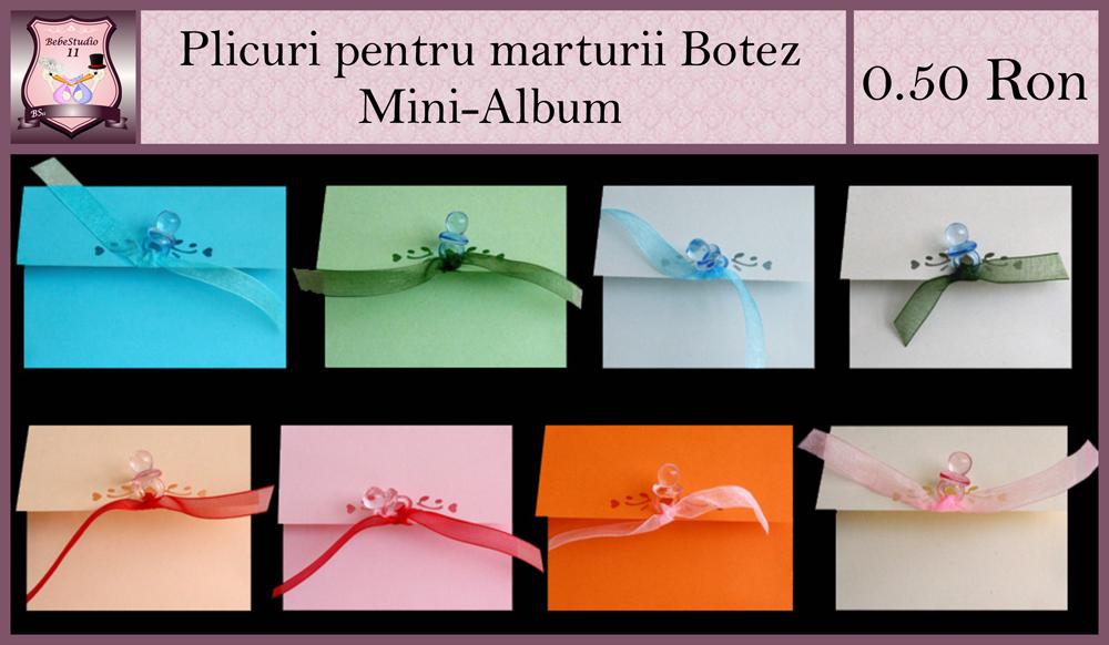 plicuri pentru mini-album botez