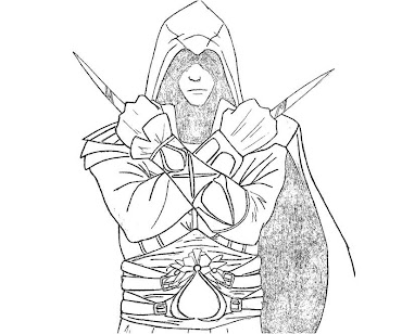 #11 Assassin's Creed Coloring Page