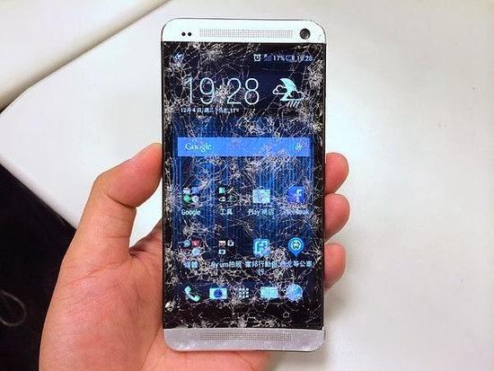 HTC One broken screen