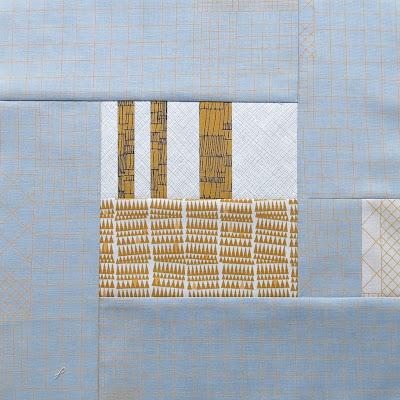 Modern sampler quilt - Block #5 - Inspired by Tula Pink City Sampler