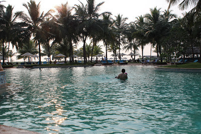 Swimming pool at Taj Exotica Goa