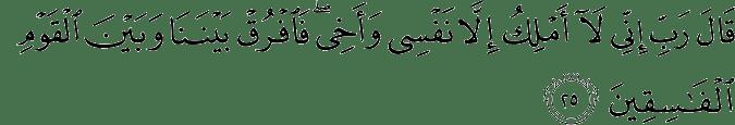 Surat Al-Maidah Ayat 25