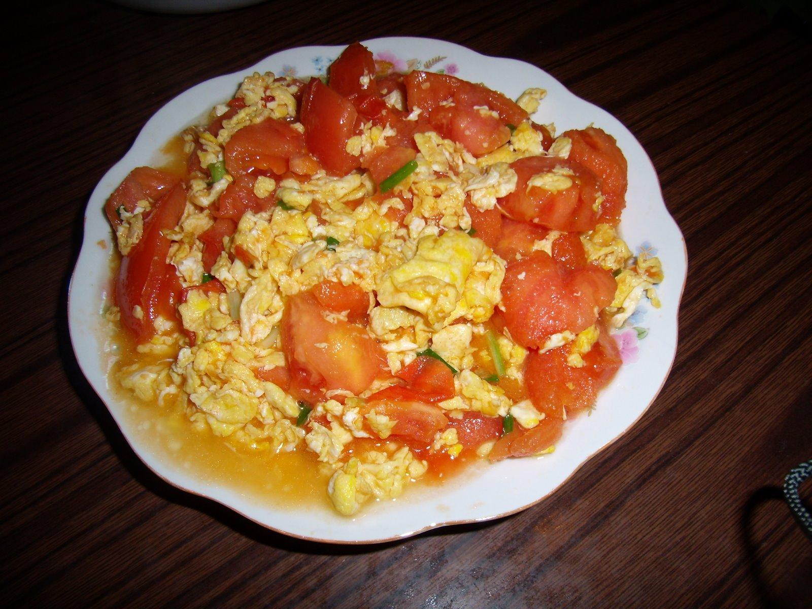 ... shanghai: 番茄炒蛋 fānqié chǎodàn stir-fried tomato and egg