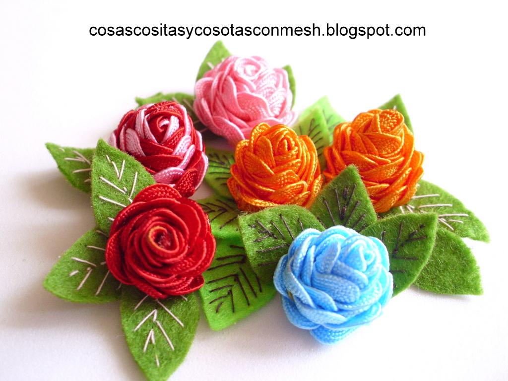 Manualidades diademas decoradas con rosas