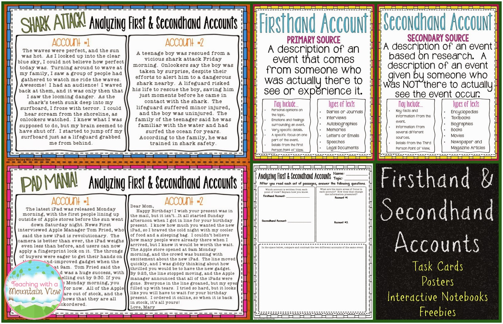 Teaching With a Mountain View: Analyzing Firsthand and Secondhand ...