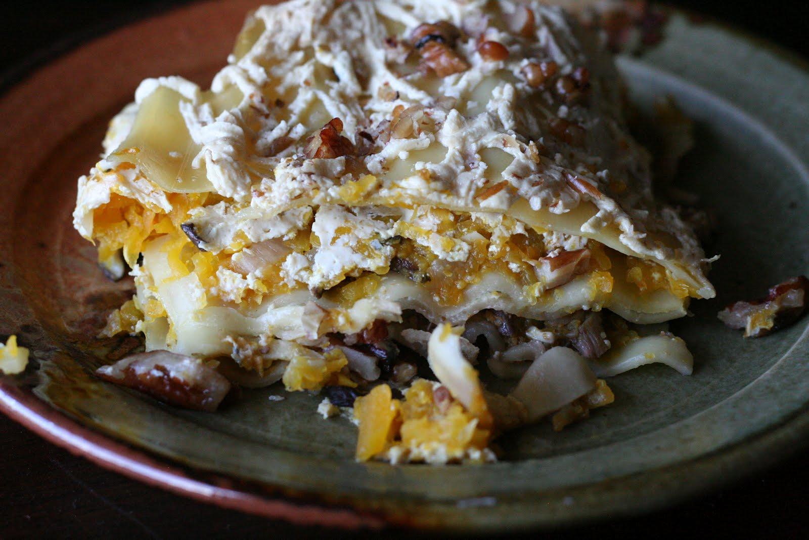 Butternut Squash and Wild Mushroom Lasagna | Rainy Day Veggies