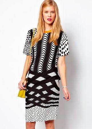 ASOS printed T shirt dress 55 50 modelos populares de vestido das mulheres, criação de vestido das senhoras em 2015, senhoras vestidos de noite vestido de noite de moda 2015