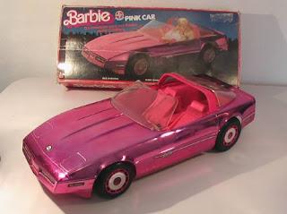 brinquedos anos 90 pink car barbie