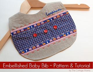 embellished baby bib pattern