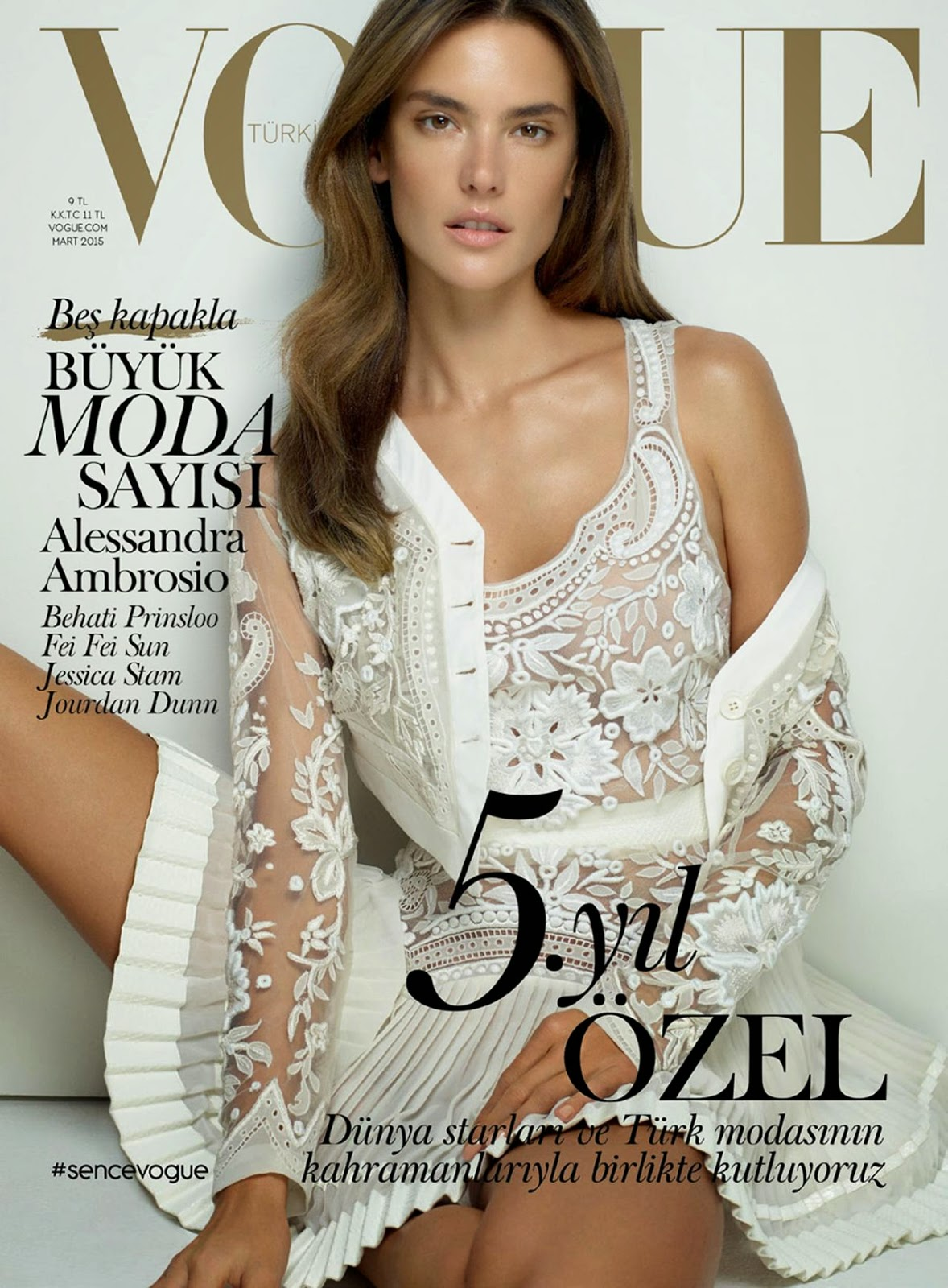 Model @ Alessandra Ambrosio - Vogue Magazine Turkey, March 2015