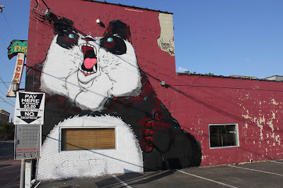 graffiti new school - kung fu panda wall art - modern street art
