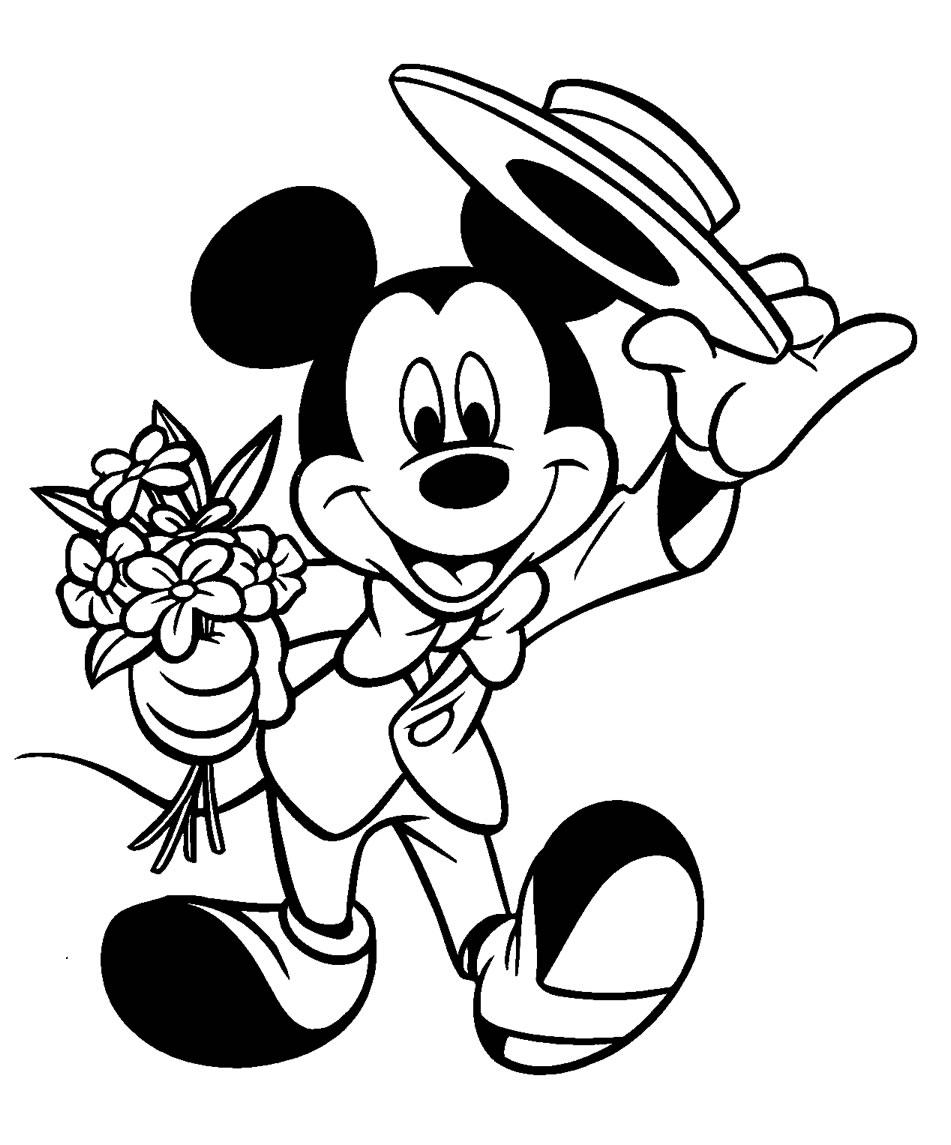 Pintar Y Colorear A Mickey Mouse Colorear Y Pintar Dibujos