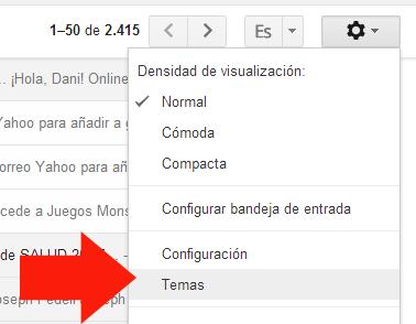 Como agregar un Tema en Gmail