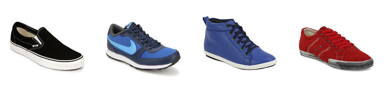 Jabong : Buy Branded Sneakers For Men's at Upto 60 % off + Extra 25% off