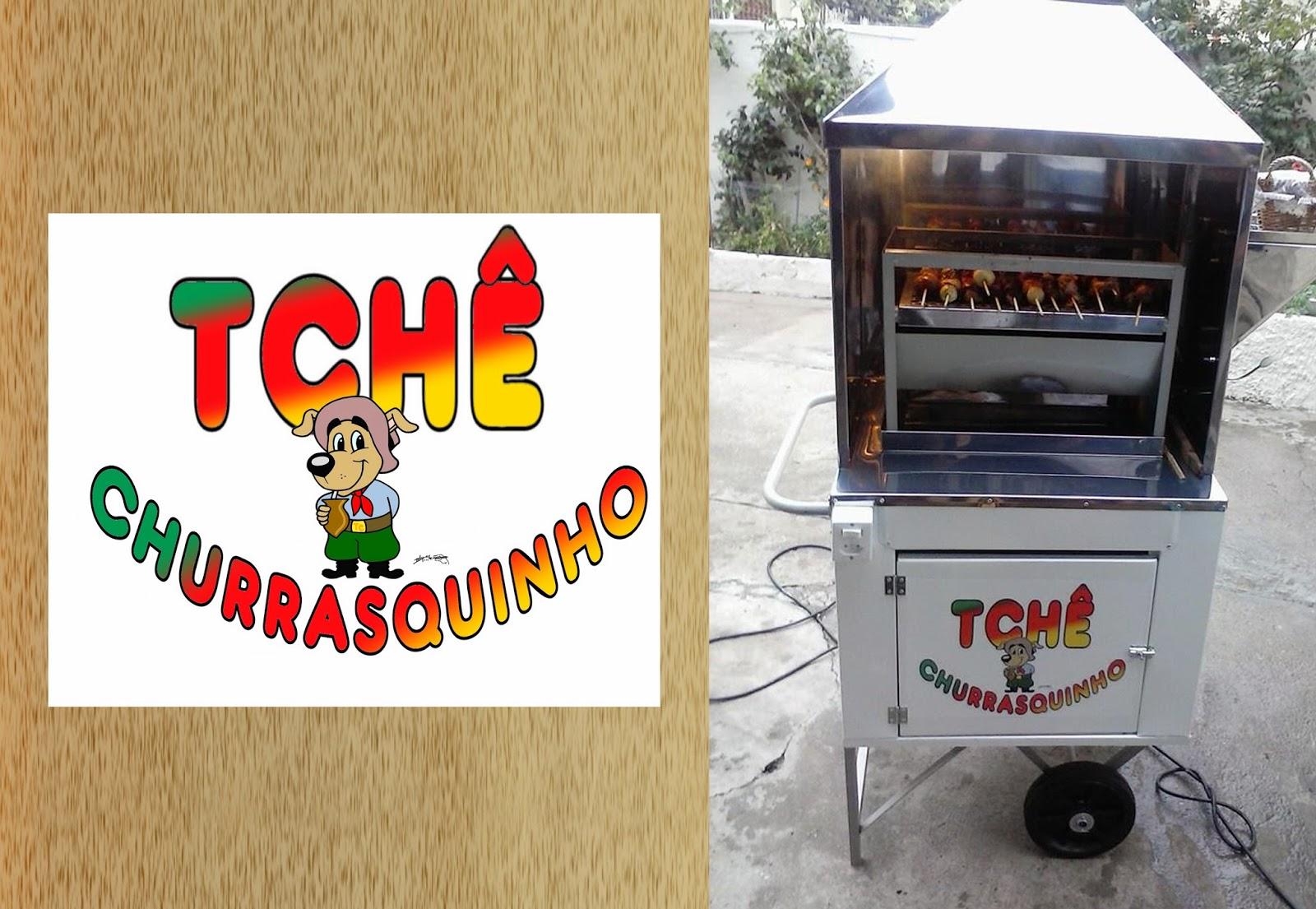 Logomarca Tchê Churrasquinho criada pelo Desenhista Marcelo Lopes de Lopes