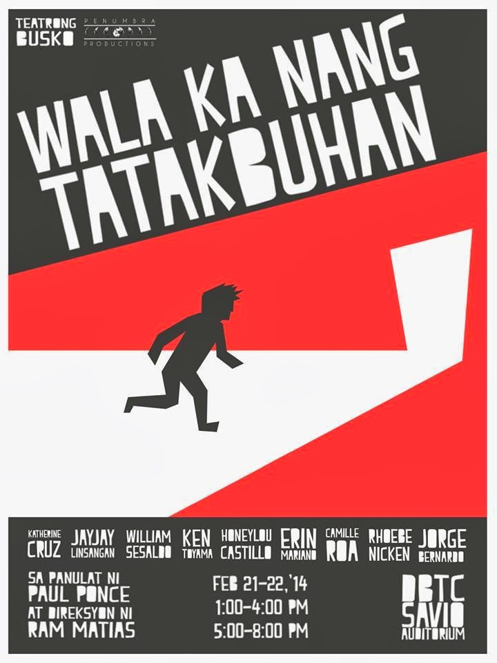 Teatrong Busko Presents Penumbra: Interchange and Wala ka nang Tatakbuhan