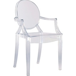 IN STYLE MODERN PHILIPPE STARCK STYLE LOUIS GHOST ARM CHAIR