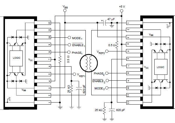 a3952s stepper motor controller schematic
