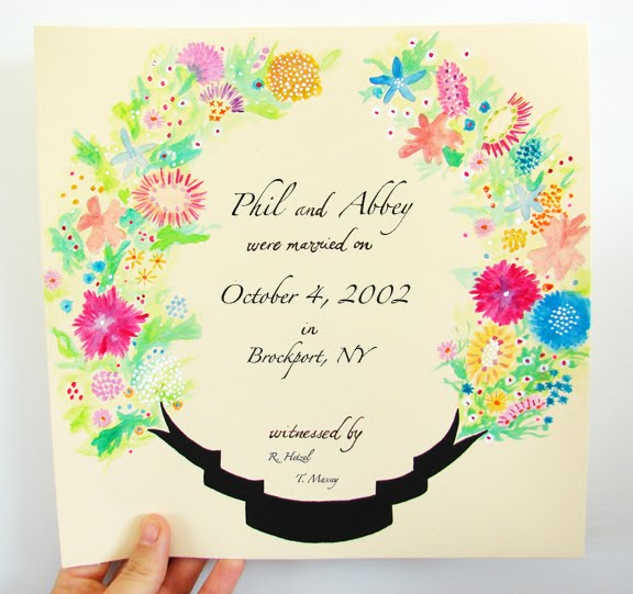wedding certificate
