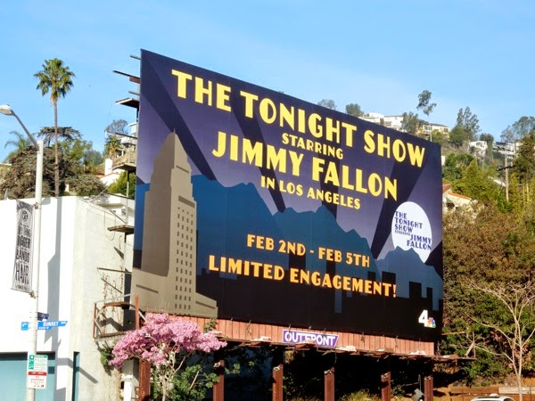 Tonight Show Jimmy Fallon LA billboard
