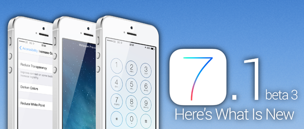 Apple iOS 7.1 Beta 3 Firmwares