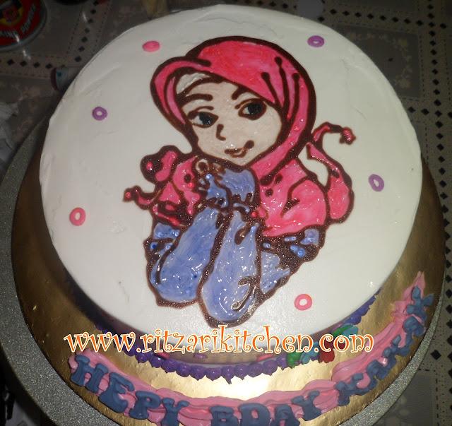 drawing on cake