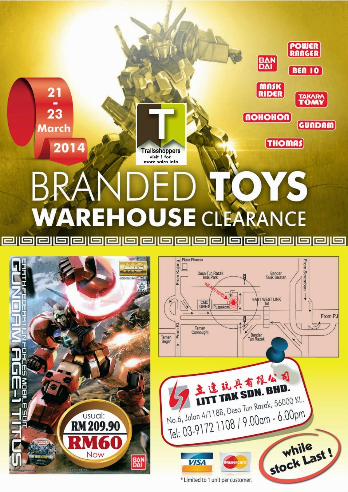 Litt Tak Branded Toys Warehouse Clearance Desa Tun Razak KL Kuala Lumpur