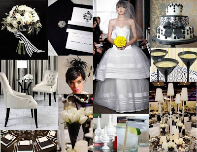 Black White Wedding Bring Chic Back