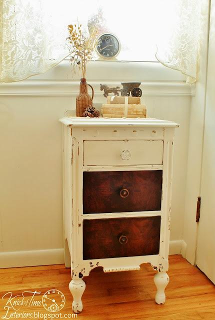 Chalk Paint Milk Paint White Dresser via KnickofTimeInteriors.blogspot.com