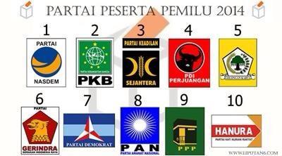 Ini Dia Nomor Urut Partai Peserta Pemilu 2014