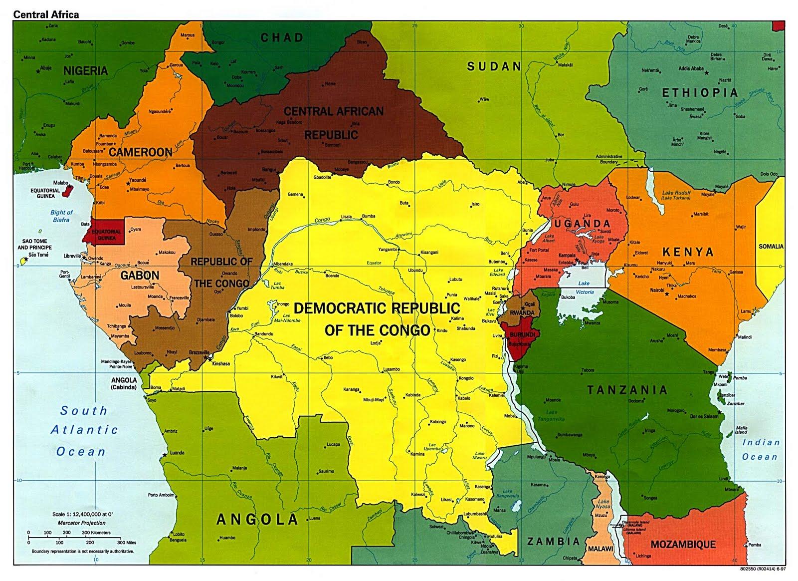 afrika op de kaart
